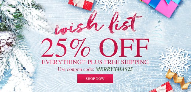 25% off Christmas Items!