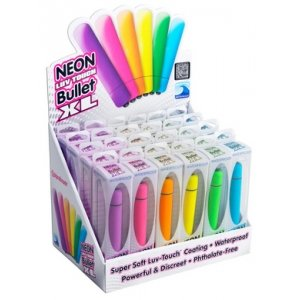 Neon Luv Touch Bullet Xl - 24 Piece Display