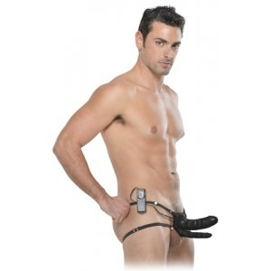Fetish Fantasy Series 6-Inch Double Penetrator Vibrating Hollow Strap-On
