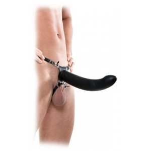 Fetish Fantasy Extreme 10-Inch Vibrating Silicone Hollow Strap-On