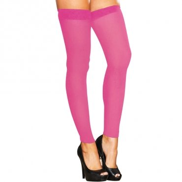 Hustler Lingerie Footless Sheer Thigh High-Pink