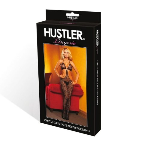 Hustler Lingerie Floral Lace Bodystocking W/O-Ring Buckle