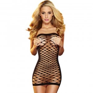 Hustler Lingerie Fencenet Micro Mini Dress