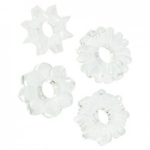 Basic Essentials Cockrings 4 Pack - Clear