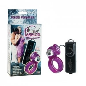 Ring Of Passion With Removable Vibrating Bullet - Purple