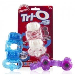 The Tri-O Triple Pleasure Ring 6 Count Display