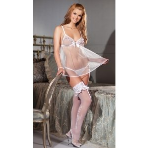 Alluring Bride 4-piece Set -  White