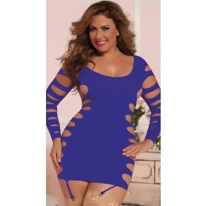 Flashy Cage Seamless Dress -  Purple - Queen Size