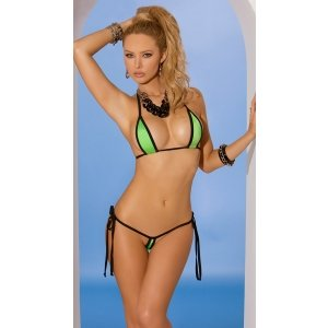 2-piece Swimwear Set - Lime  Green - One Size