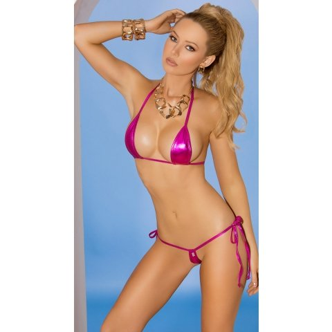 2-piece Swimwear Set - Pink  - One Size