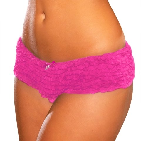 Hustler Lingerie Crotchless Ruffle Booty Shorts