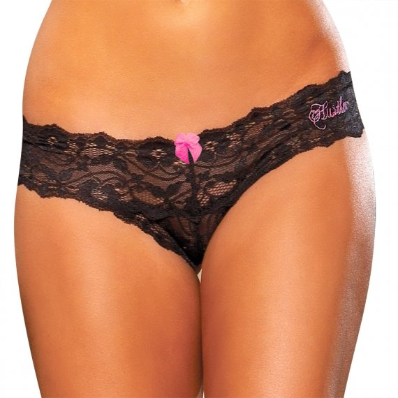 Hustler Lingerie Crotchless Lace Thong