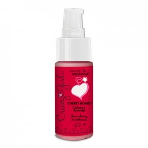 Crazy Girl Cherry Bomb Clitoral Arousal - Strawberry Sweetheart - 1 oz.