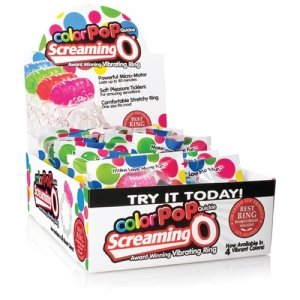 Color Pop Quickie Screaming O -  Assorted Colors - 24 Count Box