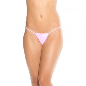 Low Back Tee Thong - Baby Pink  - One Size