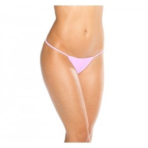 Wide Low Back Thong -  Baby  Pink - One Size