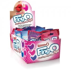 Screaming O Fingos Tips -  Assorted Colors - 18 Count Box