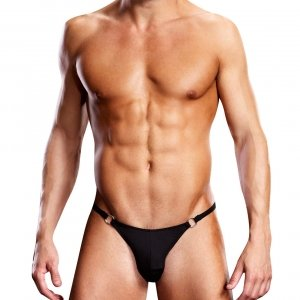 Blueline men's Performance Microfiber Thong with Metal Rings