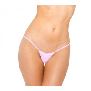 V-front Thong - Baby Pink -  One Size
