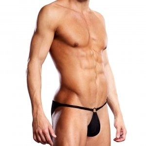 Blueline men's Performance Microfiber Pouch Bikini with Metal Ring