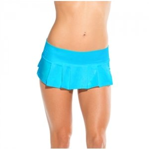 Micro Pleat Skirt - Turquoise  -  One Size
