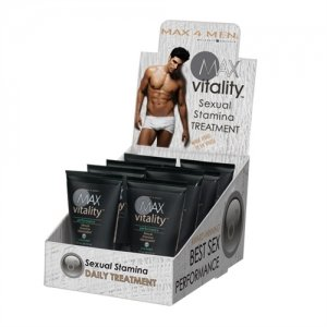 Max 4 Men Max Vitality  Performance Sexual Stamina Treatment - 8 Piece Display