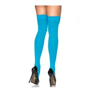 Sheer Thigh High - Turquoise  - One Size
