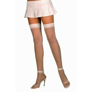 Sheer Thigh High - Nude - One  Size