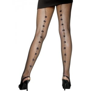 Fishnet Tights with Small Bows  - Black  Fv-20141