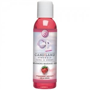 Candiland Sensuals Warming  Massage Gel - Strawberry Bon  Bon - 4 Oz.