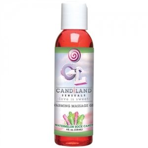 Candiland Sensuals Warming  Massage Gel - Watermelon  Rock Hard Candy - 4 Oz.