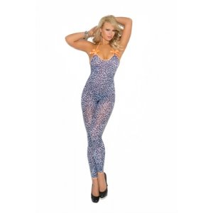 Bodystocking with Satin Bows -  Artic Leopard - One Size