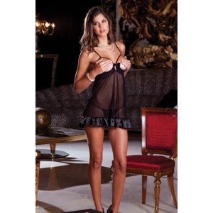 2-piece Femme Fatale Babydoll and G-string - Black