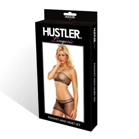 Hustler Lingerie Fishnet Mini Skirt Set