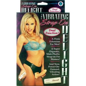 Strap-On Delight Flesh Vibrating