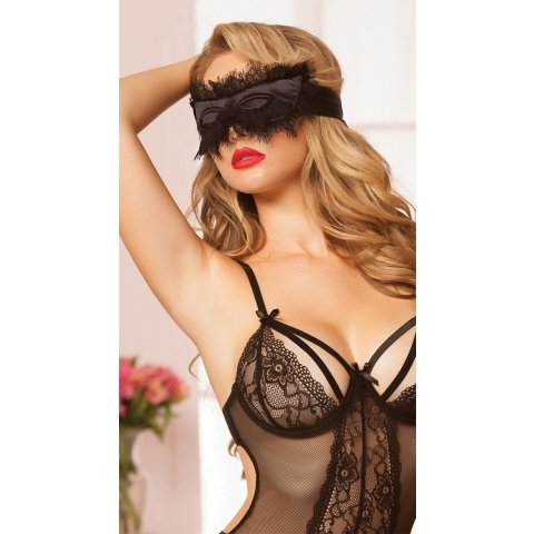 Satin Eye Mask - Black