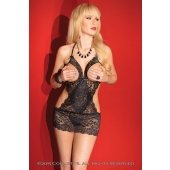 Lace Cupless Chemise - Black -  One Size