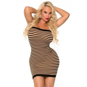 Cocolicious Hot Coco Tube  Dress - Nude/black - One Size