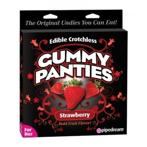 Edible Crotchless Gummy Panties - Strawberry