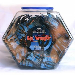 Ria Wrangler 100 Count Condoms With Fishbowl Display