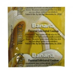 Trustex Banana Lubricated Condoms - 3 Pack