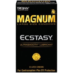 Trojan Magnum Ecstasy Ultrasmooth Lubricant Condoms - 10 Pack