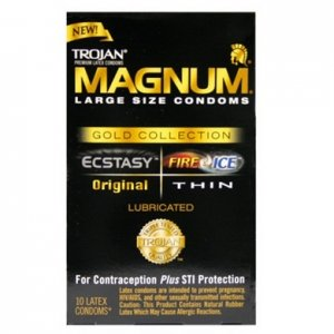 Trojan Condom Magnum Gold Collection - 10 Pack