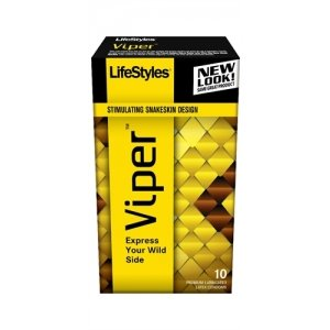 Lifestyles Viper Condoms - 10  Pack