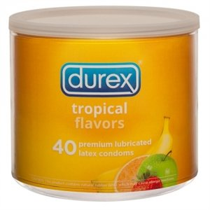Durex Tropical Flavors - 40  Count Jar