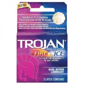 Trojan Fire And Ice Dual Action Lubricated Condoms - 3 Pack