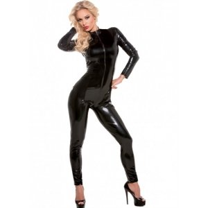 Second Skin Whiplash Catsuit - Black