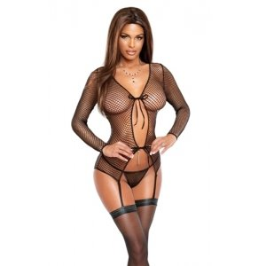 Merry Widow Jacket and G-string  Black Small - Medium