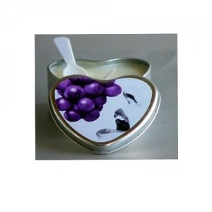 Grape Edible Heart  Candle - 4 oz.