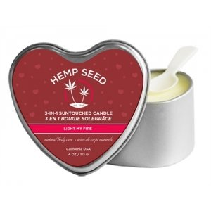 3-in-1 Light My Fire Massage  Candle with Hemp - 4.7 Oz.